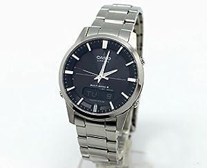 Casio LCW-M170D-1AER - Reloj Analógico/Digital de Cuarzo para Hombre con Correa de Acero Macizo y Cristal de Zafiro, 46.4 x 39.6 x 9.2 mm de CASIO