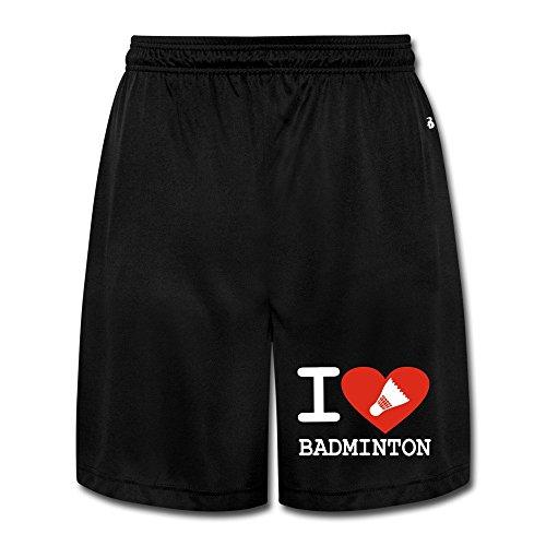 Runy Hombres del amor Delgado de bádminton deportes Jogging Pantalones Cortos con bolsillo