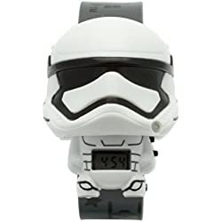BulbBotz Star Wars Episode 7 Storm Trooper Children's Digital Watch with LCD Dial Digital Display and Grey PU Bracelet 2021128
