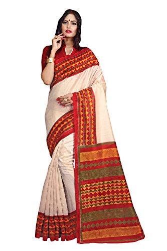 Applecreation Women's bhagalpuri sarees (printed sarees_6PJ703_FreeSize)