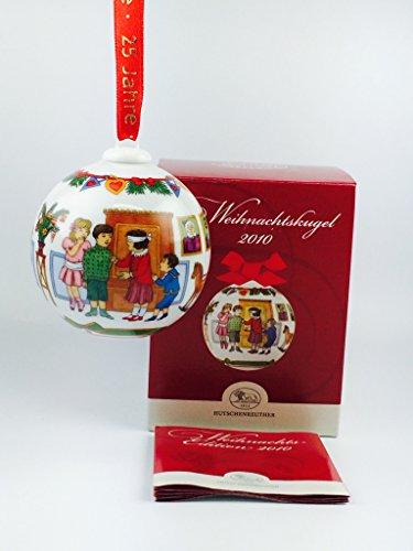 Hutschenreuther Porzellan Weihnachtskugel 2010 in der Originalverpackung (Die Verpackung ist beschädigt) NEU 1.Wahl