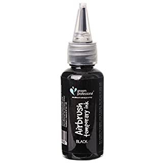 GROOM PROFESSIONAL Creative Airbrush Temporary Ink, 30 ml, Black