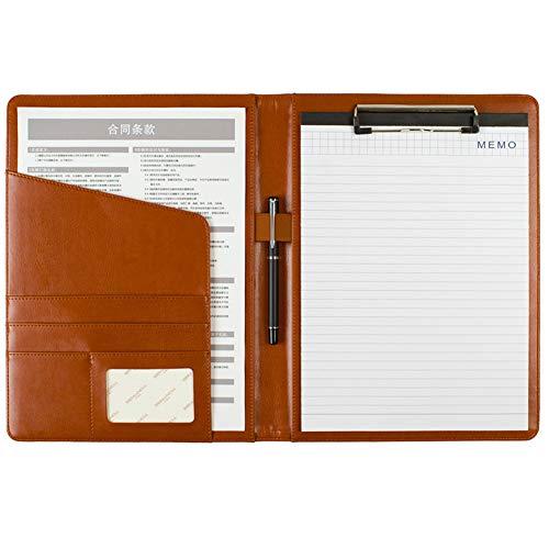 Multifunktional A4 Aktentasche Datei Taschen Büros Schulbedarf Organizer im Büro (Braun) -