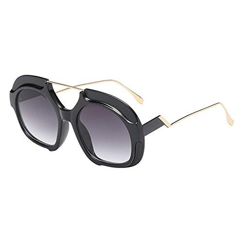 Battnot☀ Sonnenbrille für Damen Herren, Unisex Oversized Übergroße Vintage Unregelmäßige Runde Form Rahmen Mode Anti-UV Gläser Schutzbrillen Männer Frauen Retro Billig Sunglasses Women Eyewear