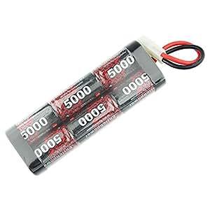 5000mAh 7,2V Batterie Accumulateur Ni-MH avec connecteur Tamiya pour modélisme RC