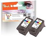 Peach Doppelpack Druckköpfe color kompatibel zu Canon CL-511