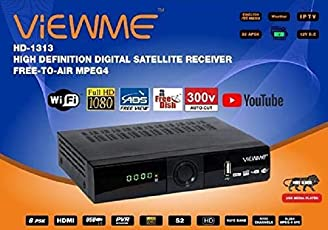 ViEWME High Definition Digital Satellite Receiver Free to Air MPEQ-4 with WiFi Dongle