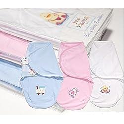 Arrullo para bebé (0-3 meses) Pink Love Heart Swaddle Wrap Talla:0-3 meses