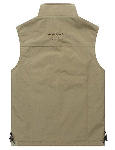 Herren Outdoor Weste mit vielen Taschen | super praktisch Sports Jacke Weste Armee Grün 87