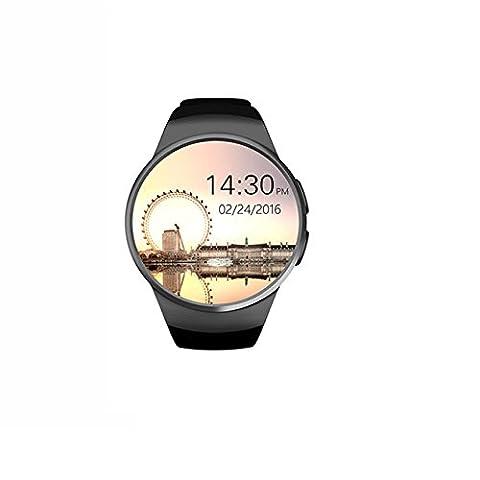 Montre bracelet automatique tracker de fitness de natation–Noir Kw-183,3cm Full Circle montre de sport avec moniteur de fréquence cardiaque