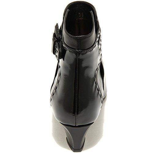 65530 tronchetto TOD'S ZEPPA GOMMA SF FIBBIA stivale donna boots shoes Nero