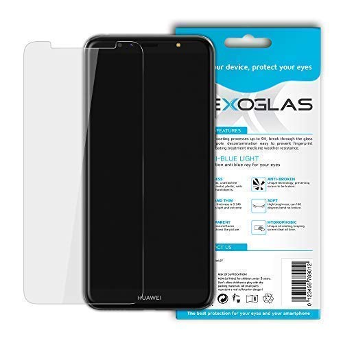 Flexoglas für Huawei Y6 2018 Honor 7A Bildschirmschutzfolie mit Blaulichtfilter Transparente Schutzfolie Resistent wie Gehärtetes Glas Anti-Schock Anti-Kratz