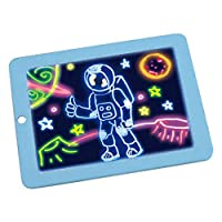 3D LED Writing Board For Kids Plastic Magic Pad art Magic Board With Pen Children Clipboard Educational Set