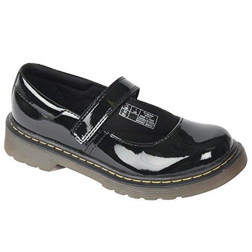 Dr.martens Maccy Black Patent Kids Shoes Size 2 Uk