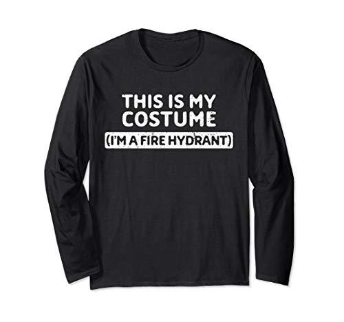 Hydrant Kostüm - I'm A Fire Hydrant Funny Halloween Costume Gift Langarmshirt