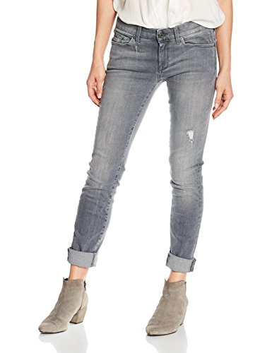 7 For All Mankind Cristen, Jeans Donna, Grigio (Slim Illusion Ivory Grey Sg), W29/L30