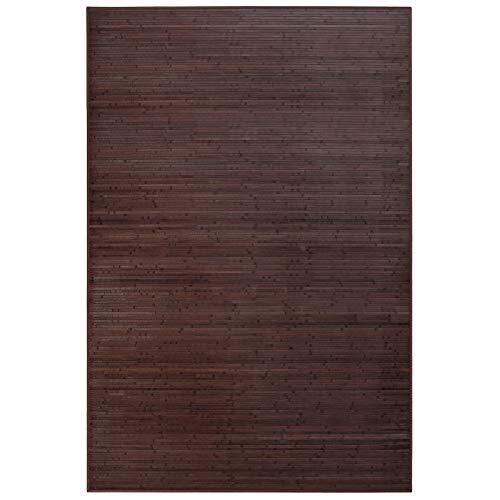 UNIMASA Alfombra de salón o Comedor Industrial marrón de bambú de 200 x 300 cm Factory, Oscuro