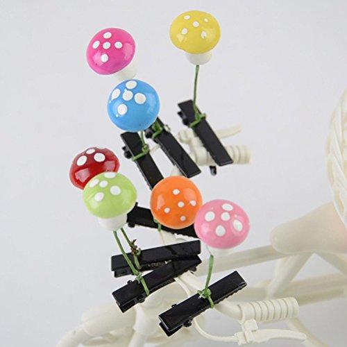 cuhair (TM) mignon de chou de bébé fille Lot mixte Couleurs assorties Manga champignon conception Pince à cheveux pince broches Barrettes à frange Accessoires