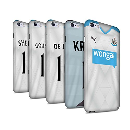 Offiziell Newcastle United FC Hülle / Matte Snap-On Case für Apple iPhone 6+/Plus 5.5 / Pack 29pcs Muster / NUFC Trikot Away 15/16 Kollektion Pack 29pcs