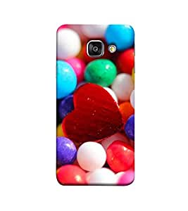 Fuson red heart and marbles theme Designer Back Case Cover forSamsung Galaxy A7 (6) 2016 :: Samsung Galaxy A7 2016 Duos :: Samsung Galaxy A7 2016 A710F A710M A710Fd A7100 A710Y :: Samsung Galaxy A7 A710 2016 Edition-3DQ-1218