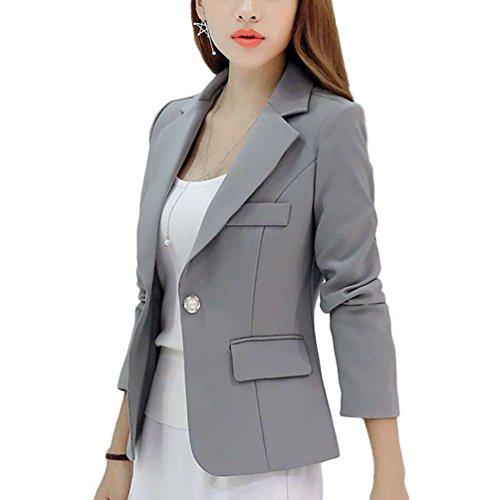 YiLianDa Women's Fashion Long Sleeve Slim Fitted Ladies Office Blazer Suit Jacket