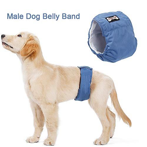 Kstyhome Waschbar männlicher Hund Bauchband Wrap wasserdicht Haustier Windel WC Training Hund physiologische Hose -