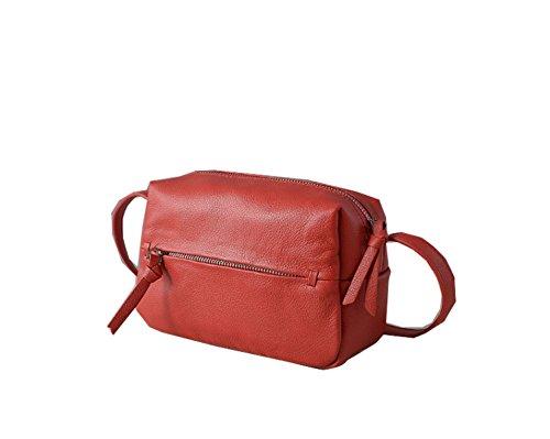PACK Ladies Di Cuoio Signore Coreane Di Modo Sacchetto Del Messaggero Della Spalla Del Sacchetto Casuale Piccolo Sacchetto,A:Black E:Red