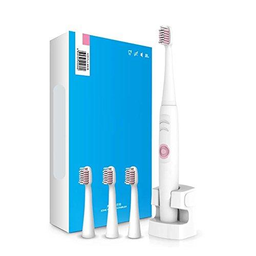 Zahnbürste Erwachsene induktiver Qi Lade Elektrische Zahnbürste Sonic Wasserdicht Automatische xagoo® Zahnbürste (1Zahnbürste, 4Têtes de Bürste, 1Base)