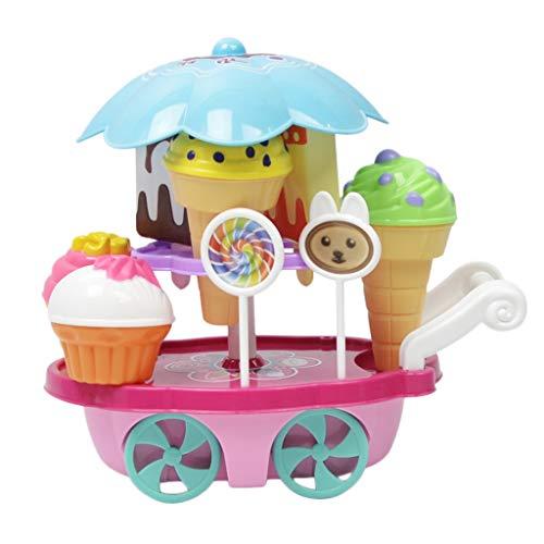CUTICATE Juego De Juguetes Ice Cream Trolley