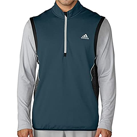 Adidas Golf 2016 ClimaHeat Half-Zip Gilet Mens Performance Golf Vest Utility Green Large