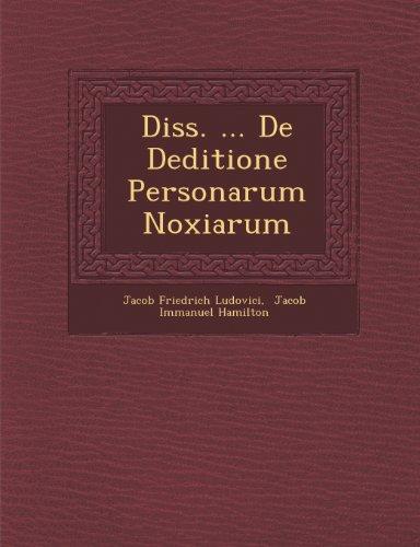 Diss. ... De Deditione Personarum Noxiarum