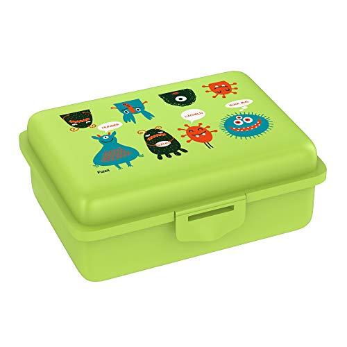 Fizzii Lunchbox (Inkl. Obst-/ Gemüsefach, schadstofffrei, spülmaschinenfest, Motiv: Monster)