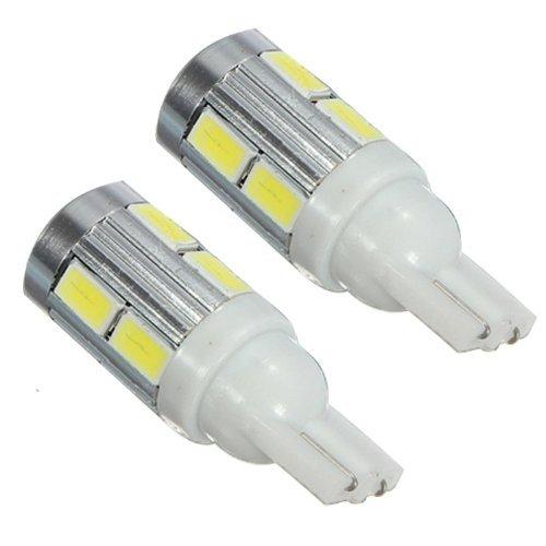 SODIAL (R) 2X T10 168 W5W 5630 10 LED Canbus alto potere bianca lampadina della coda turno segnale
