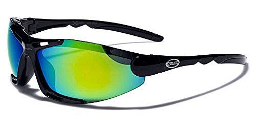 X-Loop Sonnenbrillen Mask - Radfahren - Skifahren - Tennis - Running - Motorrad / Blade Schwarz Grün Iridium - Frauen-ski-schutzbrillen Grün
