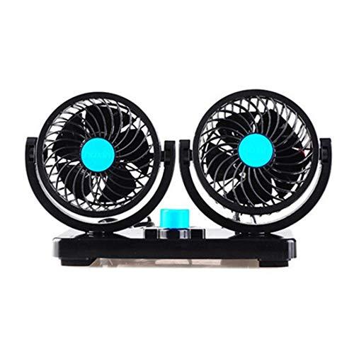 Songlin@yuan Ventilador eléctrico para automóvil 12V Material del ABS Diseño de Doble...
