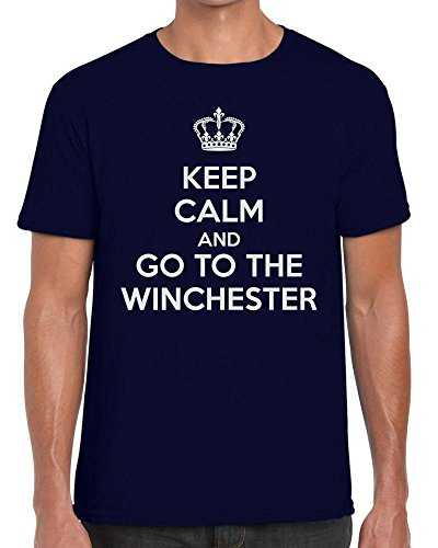 TeeDemon Keep Calm and Go to The Winchester - Carry On - Funny - Mens Shirts - Men's Tshirt Casual T-Shirt Gift by