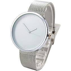 Longqi Female Ultra Thin Mesh Stainless Steel Strap Casual Watch Waterproof Quartz Business Wristwatch