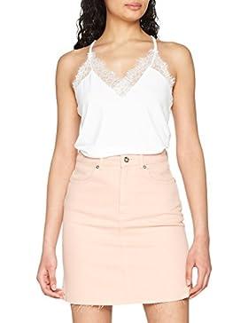 Vero Moda Vmmilla S/L Lace Top Noos, Camiseta sin Mangas para Mujer