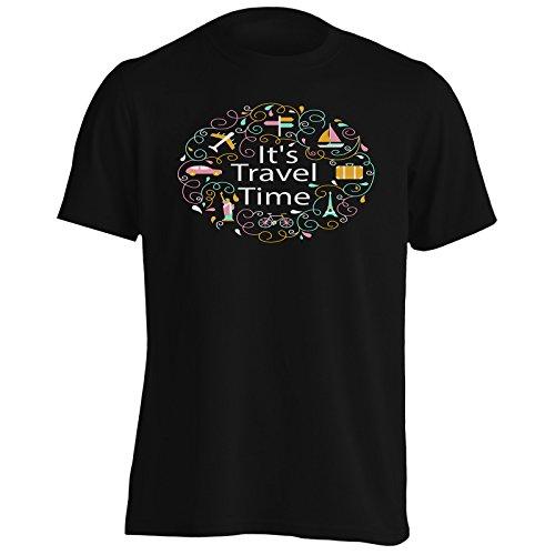 Nuova Composizione Di Viaggio Di Design Uomo T-shirt i398m Black