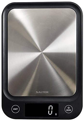 Salter Digital Kitchen Scales, Electronic Food Scale, Ultra Slim Design, Accurate Weighing Home Cooking + Baking, Metric Gram + Imperial, Liquids ml / fl oz, Easy Read LCD, Batteries – 15 Yr Guarantee