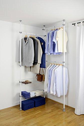teleskop garderoben system in wei. Black Bedroom Furniture Sets. Home Design Ideas