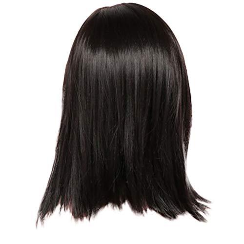 Kurze Haarperücke,Rifuli®Damen echte natürliche kurze glatte haare perücke bob stil cosplay volle perücke neu