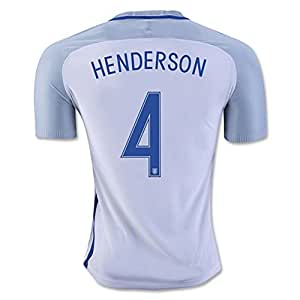 2016 2017 UEFA Euro Cup England 4 Jordan Henderson Home National Football Soccer Jersey in Weiß