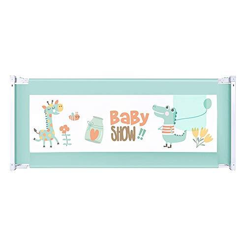 Bettgitter HUO Rausfallschutzklappbares Kinder Bett Schutz Bett Schiene Für Kleinkind Leicht Tragbar Mit (Color : Blue, Size : 180cm)