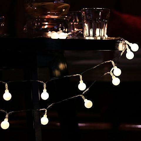 Foxpic 40er LED Kugel Lichterkette Innen Außen Wasserdicht für Weihnachten Feste Hochzeit Wohnung Deko 4M