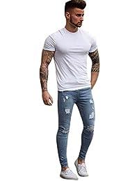 Winwintom Jeans Skinny déchirés Extensible pour Hommes Jeans déchiré ... 88ca7cd0524