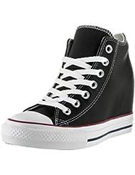 Converse - Converse Ct Lux Mid Zapatos Mujer Negro Cuero 549559C