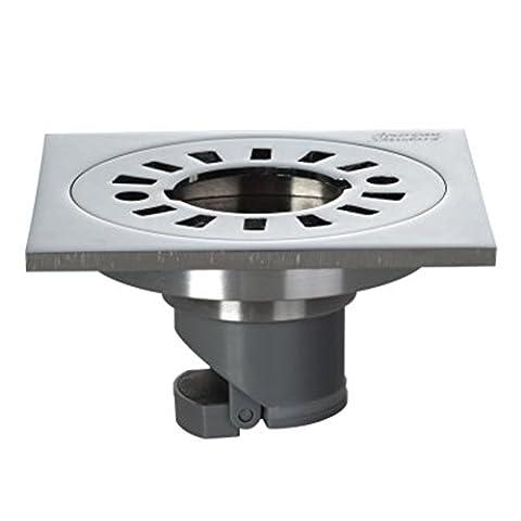 fuite de fief eau rectangulaire en acier inoxydable/Durable résistant à la corrosion dédié déodorant vidange la machine à laver-A