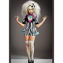 Disfraz de Beetlejuice Lindo a Rayas para Mujer Medium (UK 10-12)