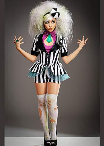 Kostüm Frauen Niedliche - Magic Box Int. Niedliches gestreiftes Beetlejuice-Art-Kostüm der Frauen Medium (UK 10-12)